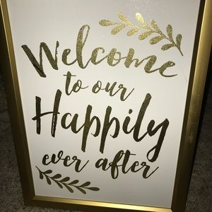 2 Black and Gold Wedding Signs